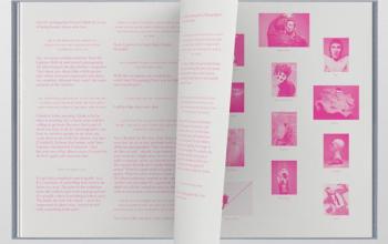 Mẫu thiết kế catalogue với font chữ độc đáo
